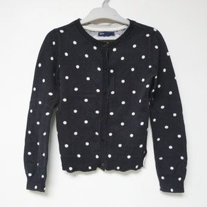 GAP polka dotted knitted cardigan